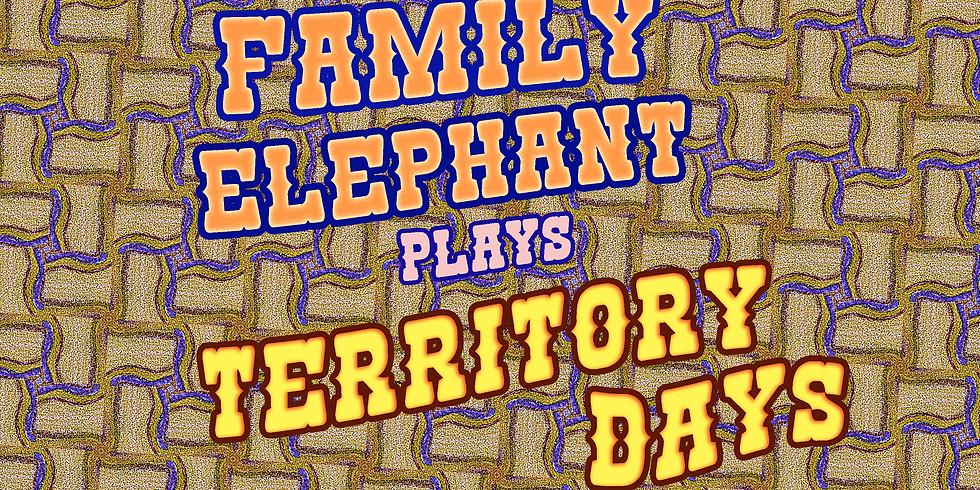 Family Elephant at Territory Days