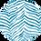 Thumbnail: Classic Button Down Shirt Turquoise Zebra