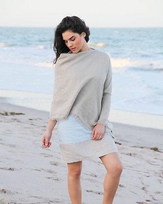 Linen Poncho Solid Color