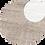 Thumbnail: Neck V- Dress Beige Metallic Stripe