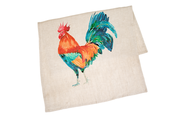 Tea Towel with Rooster