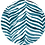 Thumbnail: Classic Button Down Shirt Teal Zebra