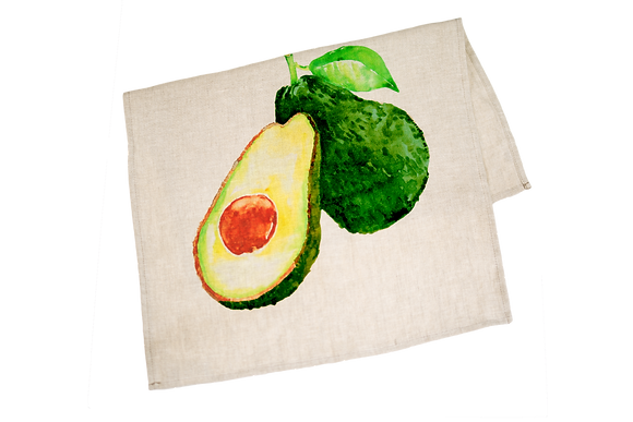 Tea Towel with Avocado