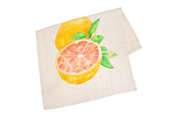 Tea Towel with Grapefruit