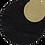 Thumbnail: Black Tunic with Gold Linen Trim