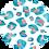 Thumbnail: Classic Button Down Shirt Turquoise Cheetah
