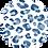 Thumbnail: Linen Lightweight Blue Cheetah Print Shawl