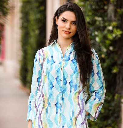 Classic Button Down Shirt Blue Tapes