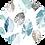 Thumbnail: Linen Scarf with Seafoam Green Leaf Print