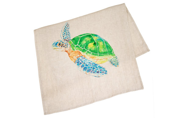 Tea Towel with Sea Turtle