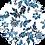 Thumbnail: Blue Ornament Loose-Fit Shirt