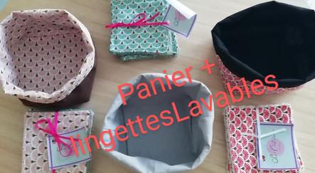 paniers + lingettes lavables