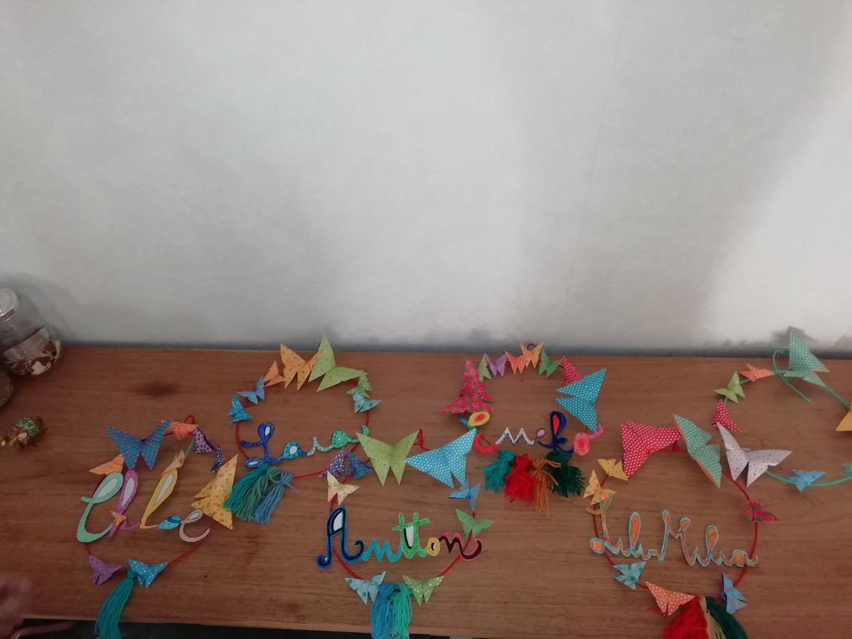 origami+ prénom