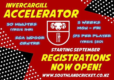 Southland Cricket Invercargill Accelerat