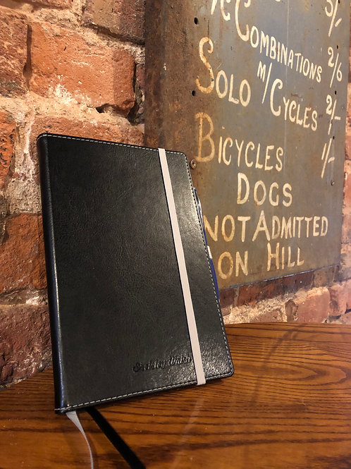 A5 Leather Notebook & Pen