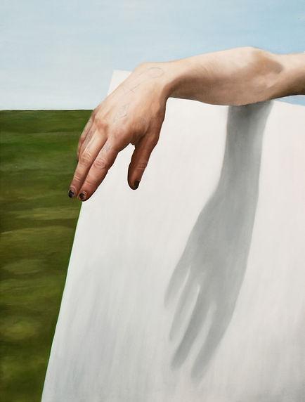 Main de Gain, chloë breil-dupont, oil painting