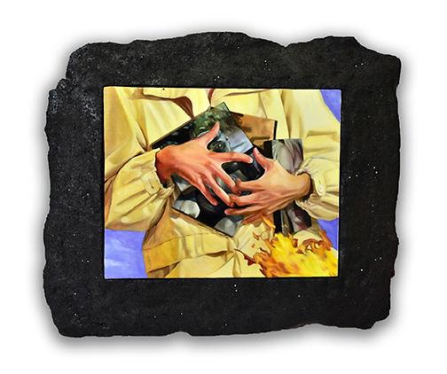 Paura, chloë breil-dupont, oil painting