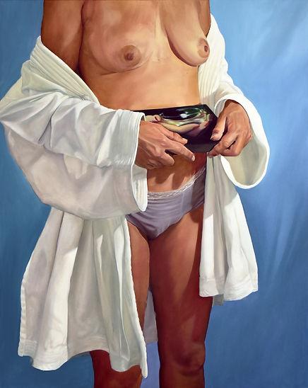 JJ, chloë breil-dupont, oil painting