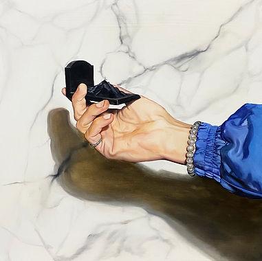 La tombe de montagne, chloë breil-dupont, oil painting