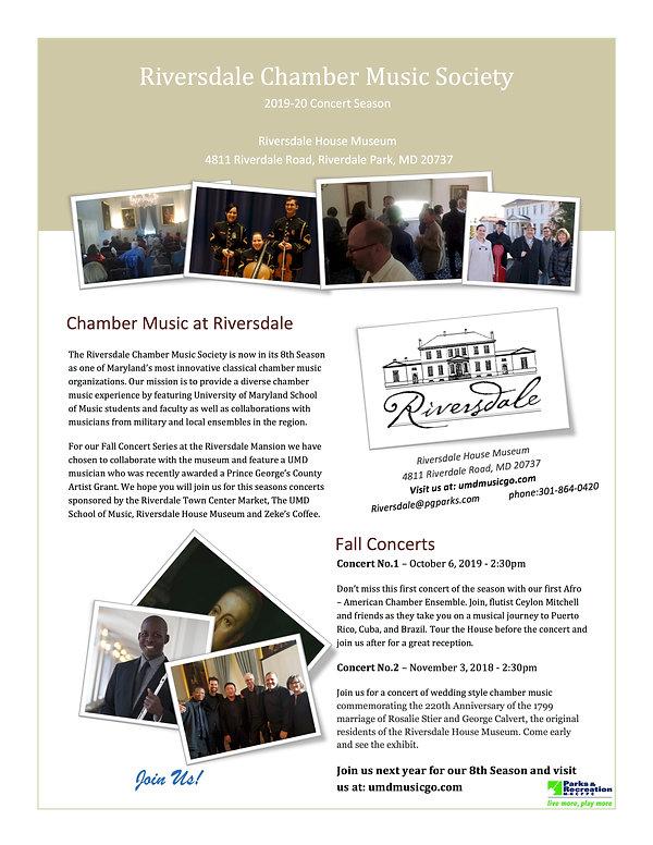 Riversdale Flyer 2019-20 Flyer Card for
