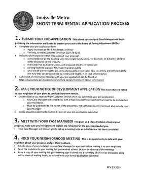 Louisville Short Term Rental Application