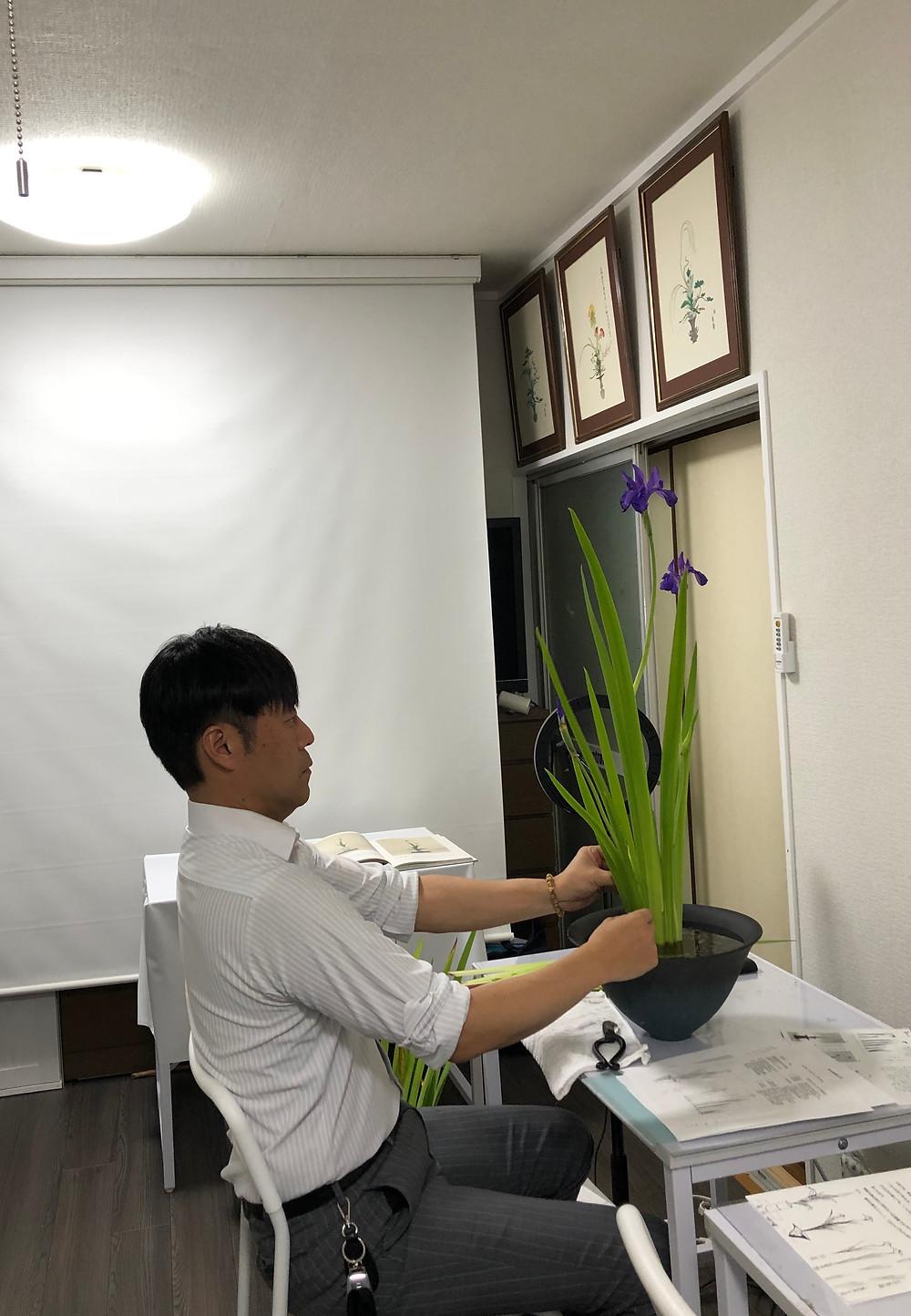 生け花教室 岩国 レッスン 男性