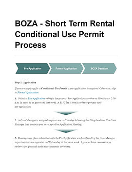 BOZA Short Term Rental CUP Process Snip