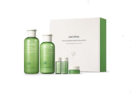 Korean skincare Innisfree Green Tea Balancing Skin Care Set EX