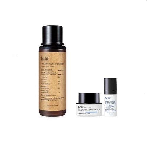 Korean skincare belif infusion toner repairs skin damage.