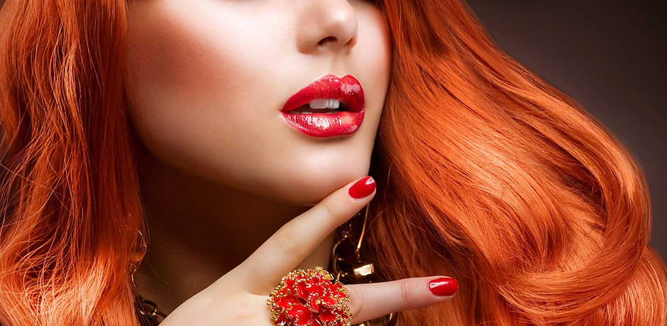 Redhead Model Close-Up