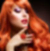 Redhead Model Close-Up
