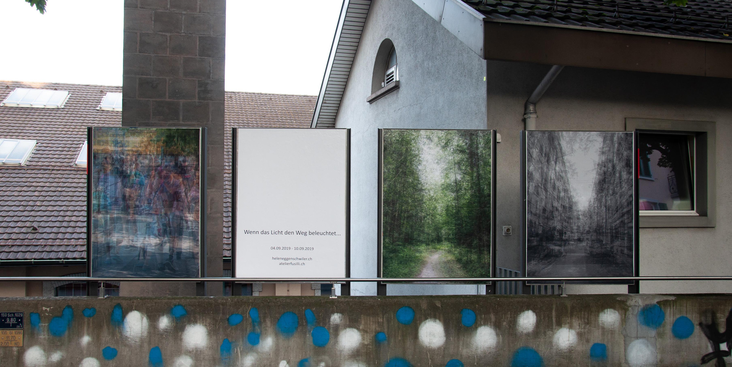 Wenn das Licht den Weg beleuchtet... (2019) Ausstellungsansicht Luzern
