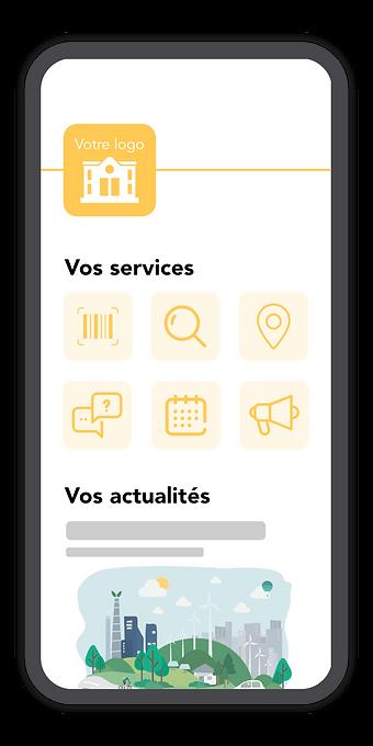 L'interface personnalisable de l'application Montri sur smartphone