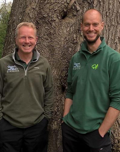 Quantock Hills Rangers Owen Jones and Andy Stevenson