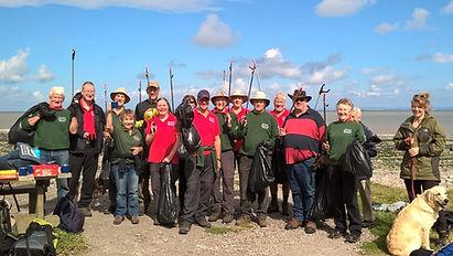 Quantock Hills AONB Volunteers beach clean at Kilve