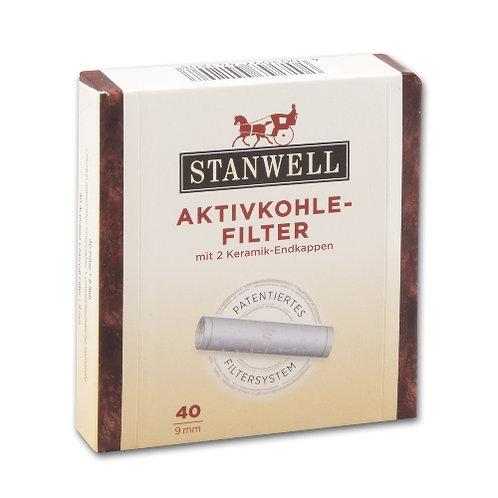 STANWELL koolfilters   9 mm 40 stuks