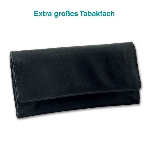 Tabak- buidel leer Nappa zwart  15x8cm