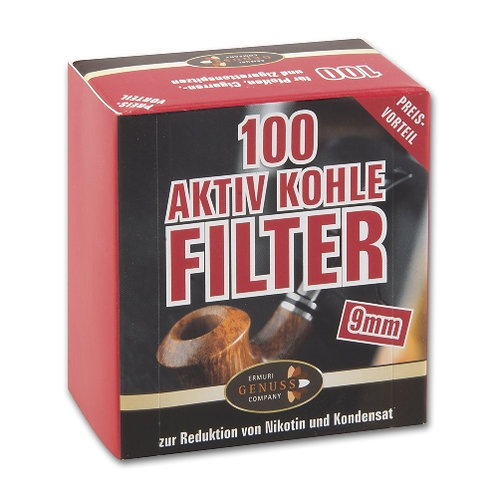 Ermuri 9 mm filters koolstof 3 x 100 stuks
