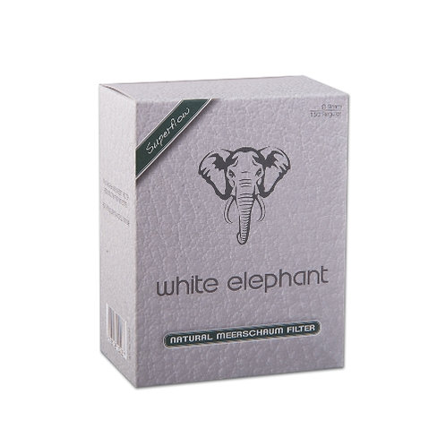 WHITE ELEPHANT meerschuim Superflow  filters 9 mm 150 st.