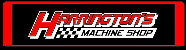 Harringtons Machine Shop White logo red.