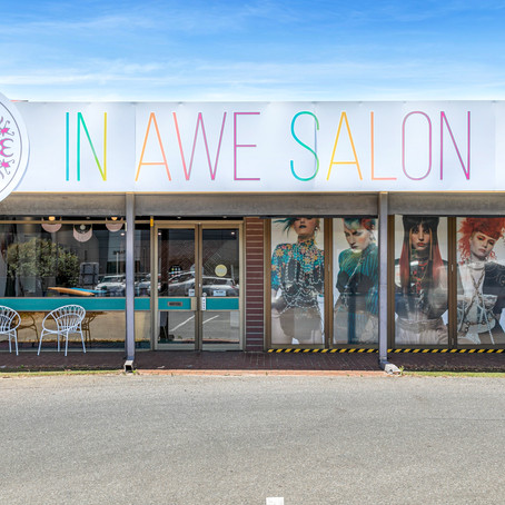 Megan Panozzo and her salon In Awe Salon in Adelaide, South Australia