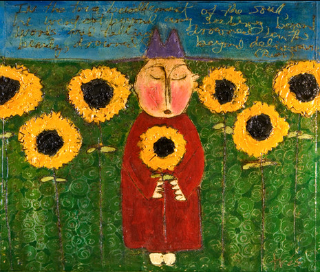 Sunflower Monks (with Rumi poem)
