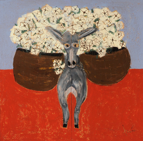 Donkey with Moonflowers