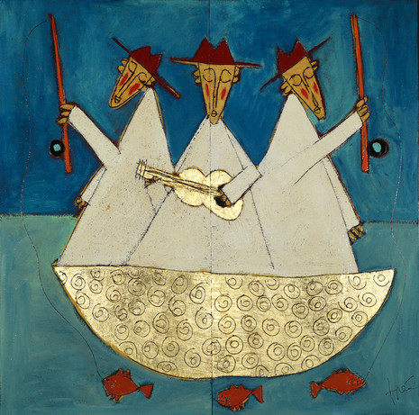 Fishing Music (gold boat)