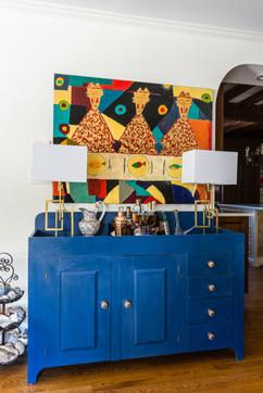 Art with Blue Bar