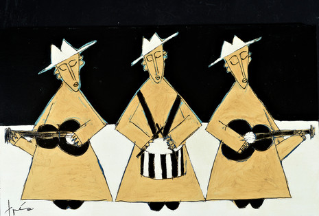 Drumming up the Spirit (black and white)