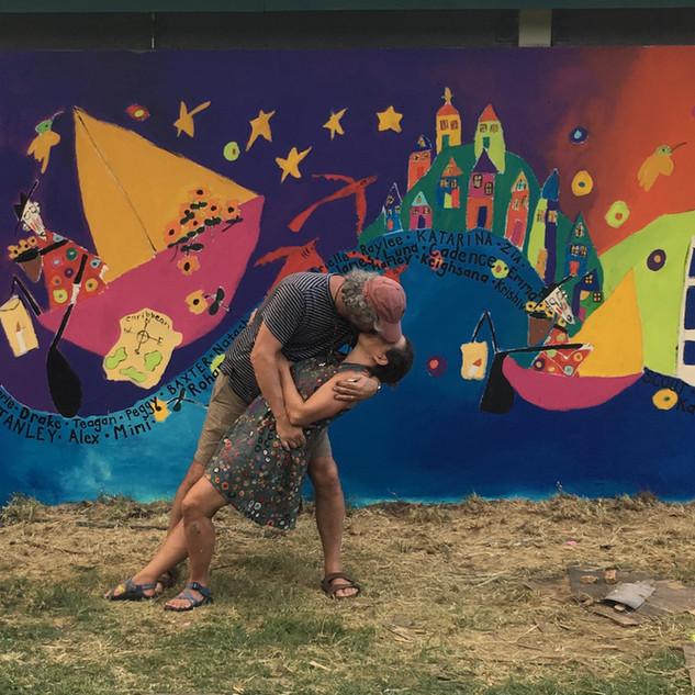 Pure Joy mural in St. Thomas, US Virgin Islands