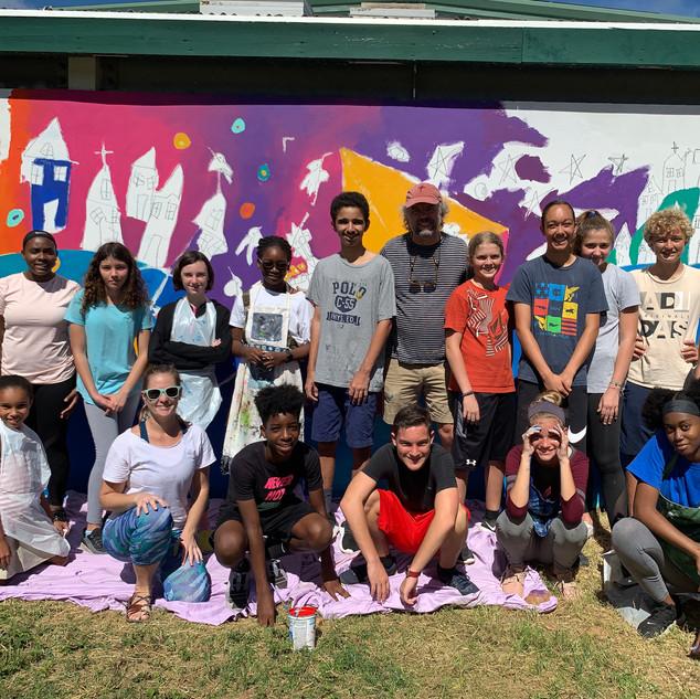 Community artists at St. Thomas Montesory School