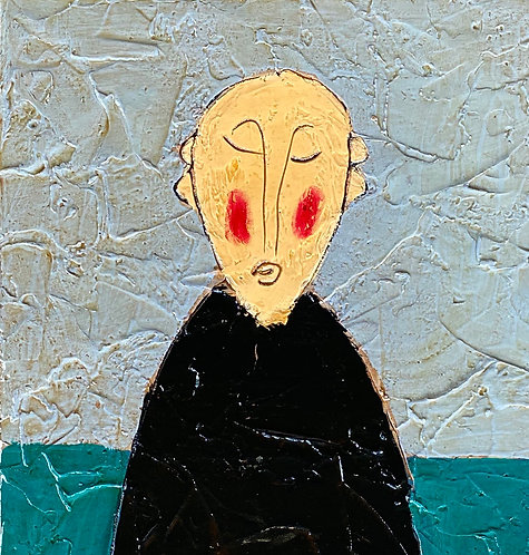 """Peaceful Monk with Rose, 18""""x42"""""""