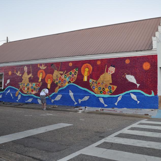 Catfish Jumping...Greensboro, AL mural